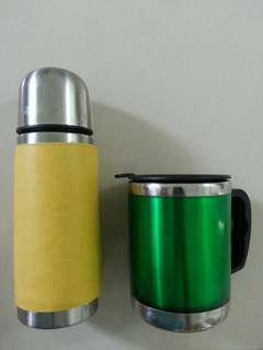 Thermos Bottle + Mug