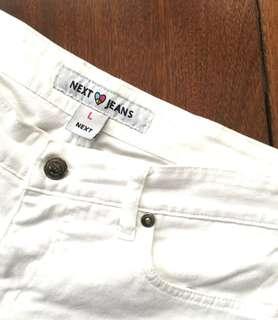 Next Jeans White Denim Shorts