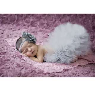 Newborn tulle skirt + headband set