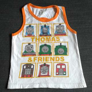 """bedok central - children's """"thomas and friends"""" sleeve-less t-shirt"""