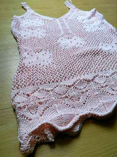 Pink/Peach summer crochet knit cover up