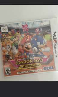 3DS: Mario and Sonic OLYMPICS 2012 game