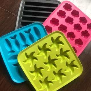 Ikea Ice Cube Tray - Set of 4 Soft Silicon