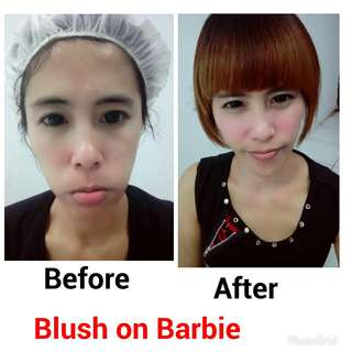 Blush on barbie