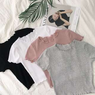 [PO] Knitted Crop Top