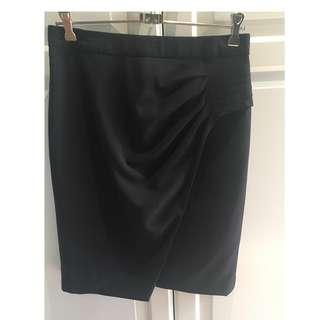 Portmans Status Black Work Corporate Skirt Size 10