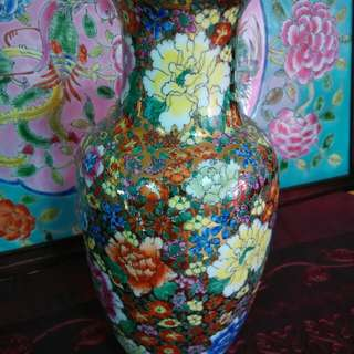 Gold base fine porcelain vase