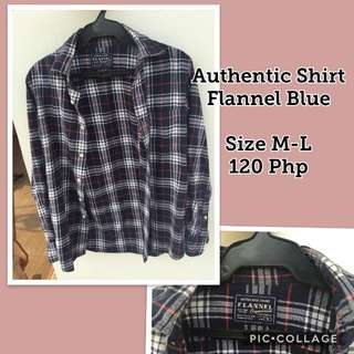 Authentic Shirt Blue Flannel