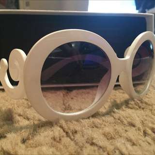 REAL Prada Baroque Sunglasses in White