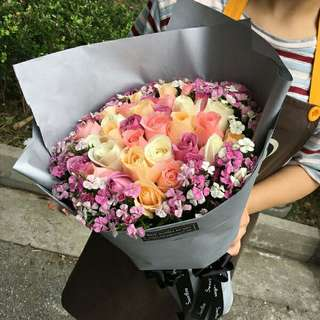 Flower Bouquet∕Hand Bouquet∕Birthday Bouquet∕Anniversary Bouquet∕Proposal Bouquet∕Graduation Bouquet - 2832     76