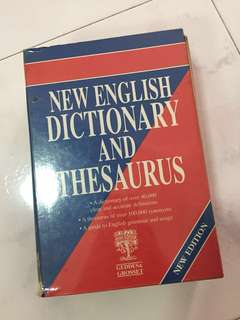 Hard Cover English Dictionary and Thesaurus