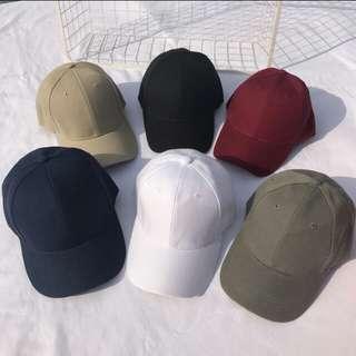 [PREORDER] Ulzzang plain baseball cap
