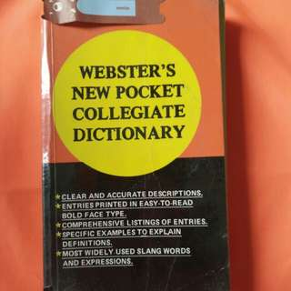 Webster's New Pocket Collegiate Dictionary