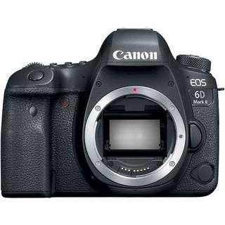 Kredit Canon EOS 6D Mark II DSLR Camera (Body Only) tanpa Cc