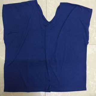 (衫)Blue v-neck sleeveless top