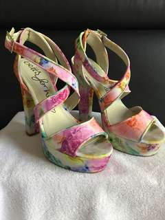 Betts Floral chunky heel