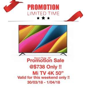 """TV XIAOMI TV 50"""" 4k"""