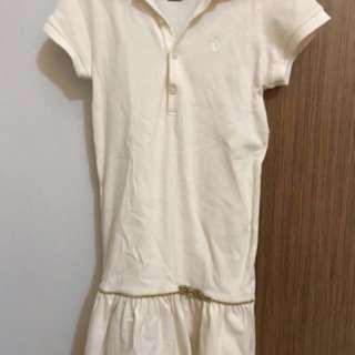 Ralph Lauren drop waist dress with Chinese knot