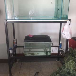 Fish tank(iOS) (4x2x2) with two tier stand