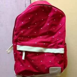 Red Polka Dot School Backpack