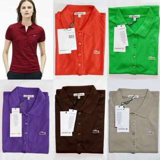 Lacoste 5 buttons polo shirts