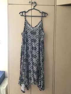 black white summer dress