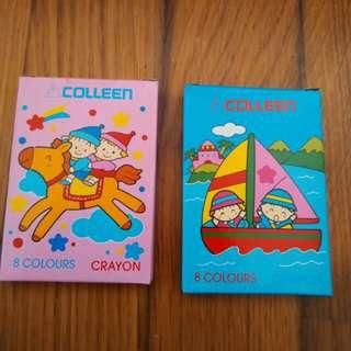 BNIB Colleen Mini Crayons (8 Colours)