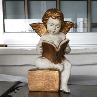 Stone carved Angel figure