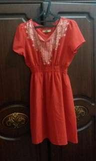 BLF orange dress