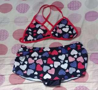 heart two-piece swimwear