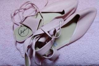 Pastel Pink Flats Gladiator