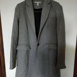 Zara Trf Outerwear Grey Long Coat