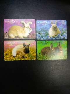 Bunny tales set of 4 transit link cards