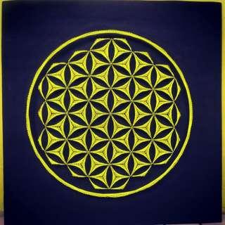 """Flower of Life String Art (24"""" x 24"""")"""