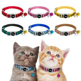 (PRE-ORDER) 6 PCS PER PACK, QUICK RELEASE NYLON CAT COLLAR MULTI-COLOR