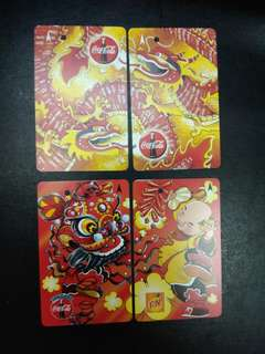 Coca Cola New Year transit link card set