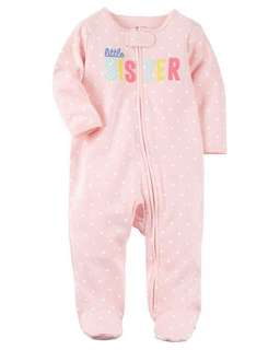 Carter's Little Sister Zip-up Cotton Sleep & Play