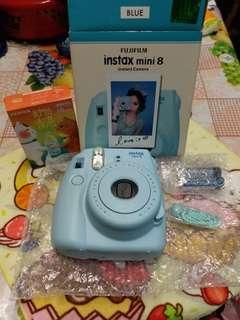 全新Fujifilm instax mini 8天藍色送相機紙