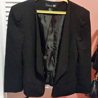 Forever21 Black Blazer (Short)