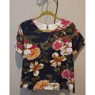 MnS Flowery Linen Blouse