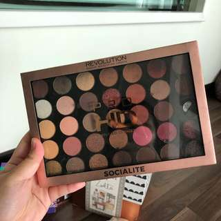 (READY STOCK) Makeup Revolution Pro HD Amplified 35 Palette - Socialite
