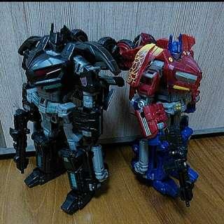 Transformers op tru version and ehobby nemesis prime takara