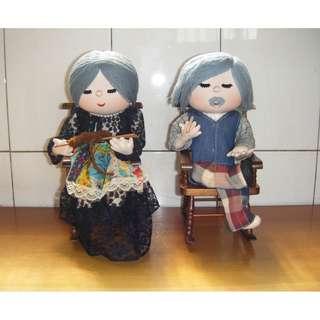 早期趣味 爺爺奶奶布娃娃 1對