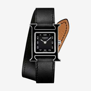 hermes H watch double bracelet