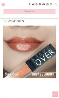 MAKE OVER LIQUID LIP COLOR SHADE BRONZE ADDICT