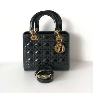 Authentic Lady Dior Medium Black