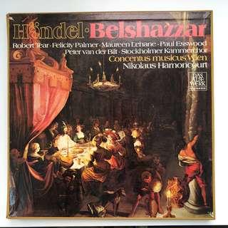Handel Belshazzar Robert Tear Felicity Palmer Harnoncourr Telefunken 4-LPs box set