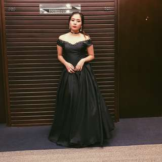 Black Ball Gown for RENT!
