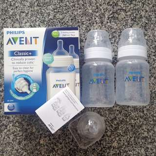 2 Avent Anti-Colic Bottles