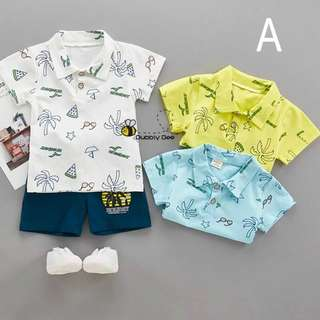 Kids Boys Girls Clothing Sets Fashion T shirt Tops And Shorts Pant 2 Pieces